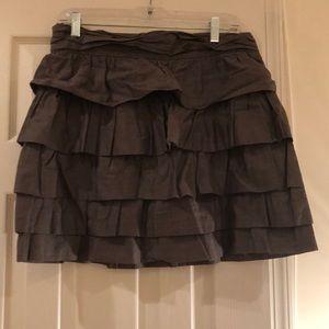 Ruffle layers Jcrew cotton skirt